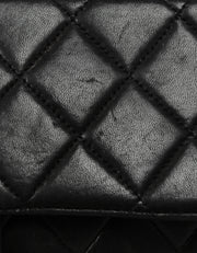 Chanel Black Vintage Lambskin Quilted CC Camera Crossbody Bag