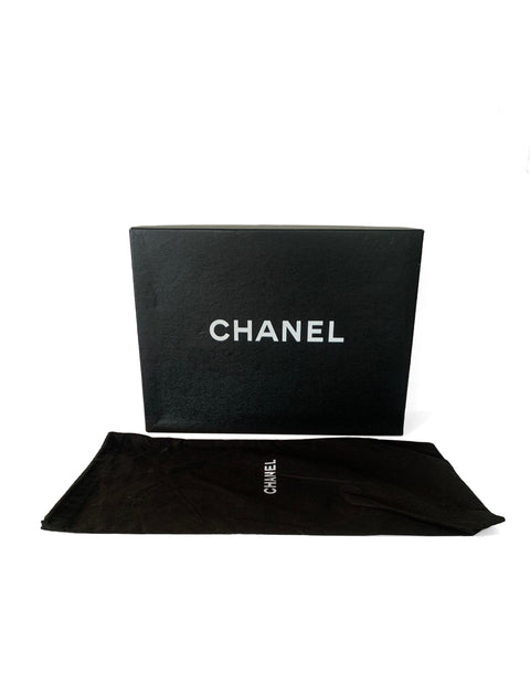 Chanel Black Caviar Quilted East/West Quilted Flap Bag