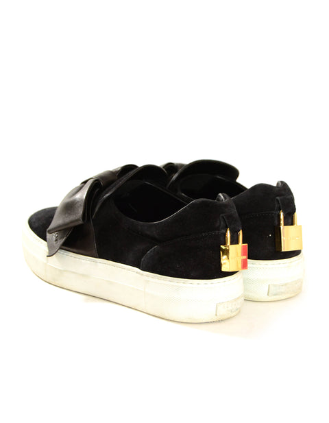 Buscemi Black Suede Sneakers w/ Bow Accents sz 38