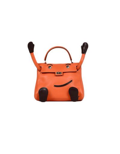 Hermes Orange Swift Leather Quelle Idole Kelly Bag