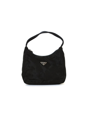 Prada Vintage Black Nylon Mini Handbag