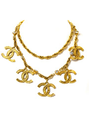 Chanel Vintage Goldtone CC Charm Necklace