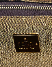 Fendi Vintage Monogram Zucca Flat Shoulder Bag