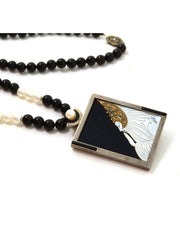 Erte Sterling & 14k Gold Beloved Necklace