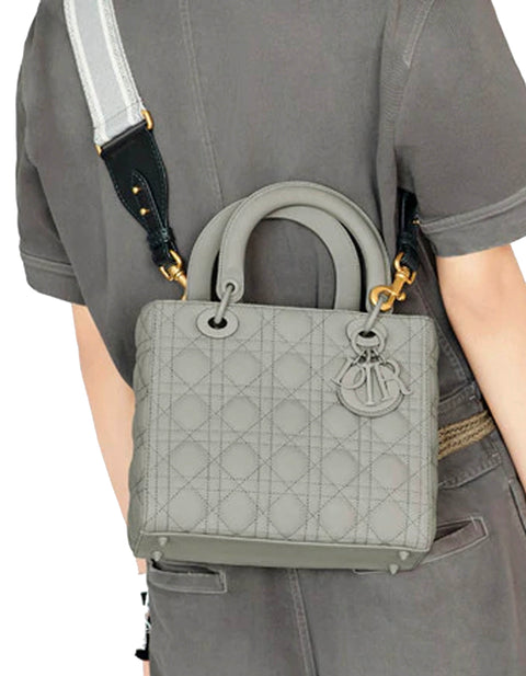 Dior Grey Canvas CHRISTIAN DIOR Embroidered Bag Strap