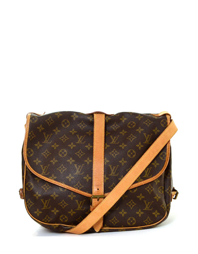 Louis Vuitton Monogram Saumur 35 Double Saddle Messenger