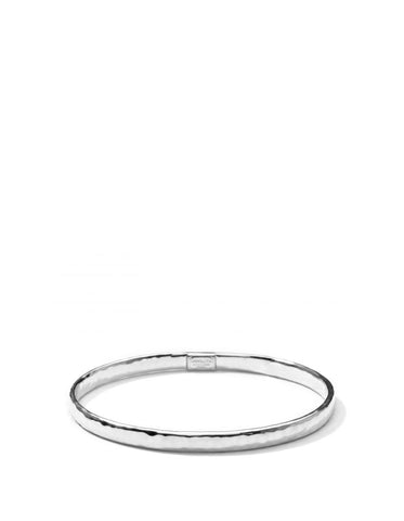 Ippolita Sterling Silver Classico Hammered Flat Bangle sz 2