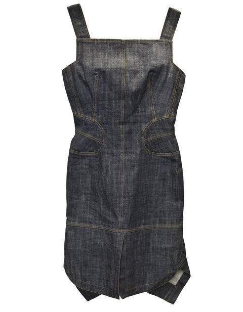 Alaia Blue Denim Dress Sz M