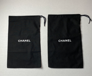 "100% Auth Chanel Set of Two Black Shoe/ Small Bag/ Wallet Dust Bags 12""x 7.75"""