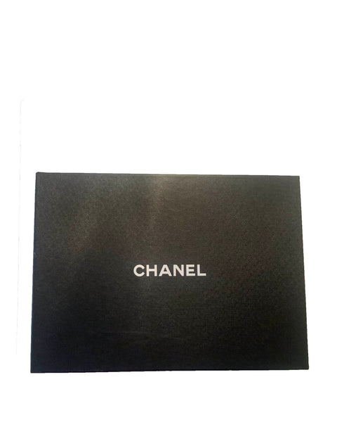 Chanel '90s Vintage Black Caviar Leather CC Timeless Portfolio Tote Bag