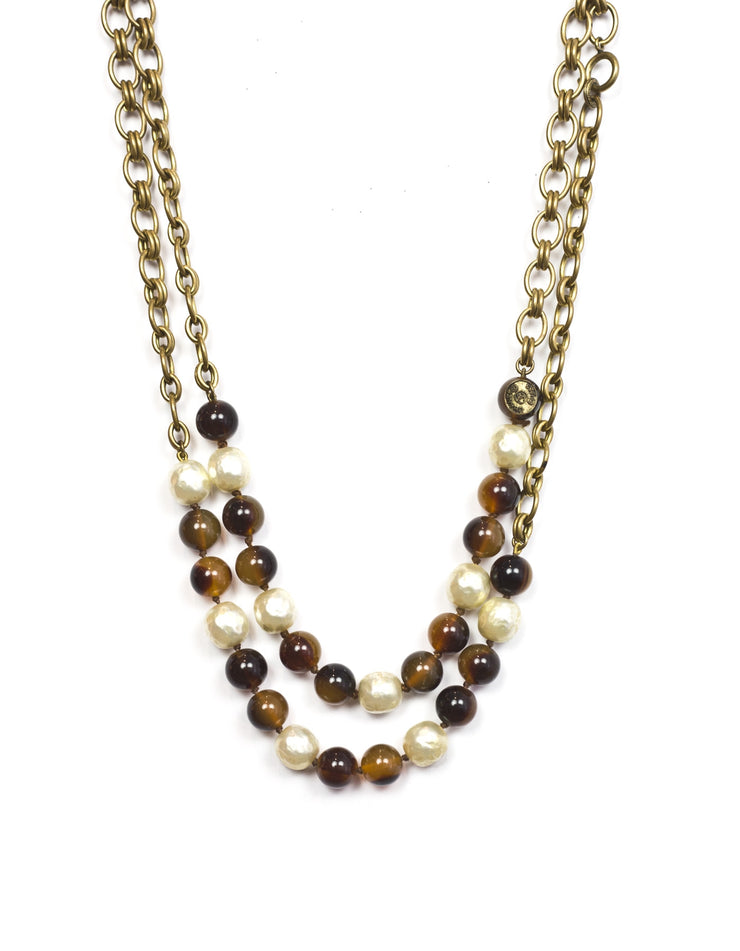 Chanel Vintage Beaded and Faux Pearl Necklace