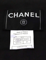 Chanel Black & Grey Tweed Jacket Sz FR40