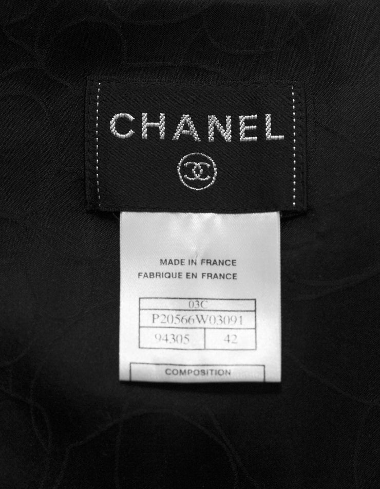Chanel Black Wool Boucle Vest Sz FR42