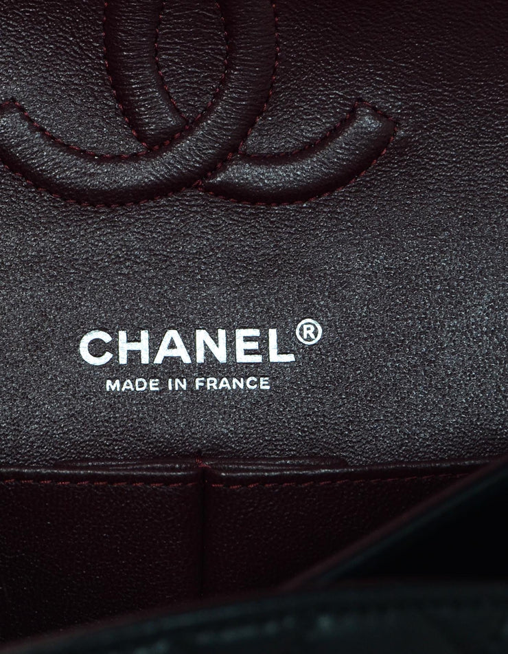 "Chanel '18 Black Lambskin 10"" Medium Classic Double Flap Bag"