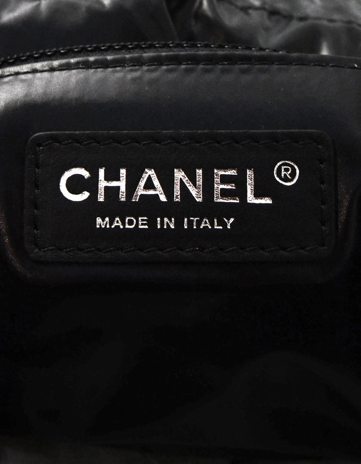 Chanel '18 Black & Red Wool/Leather Paris/Hamburg Sling Bag