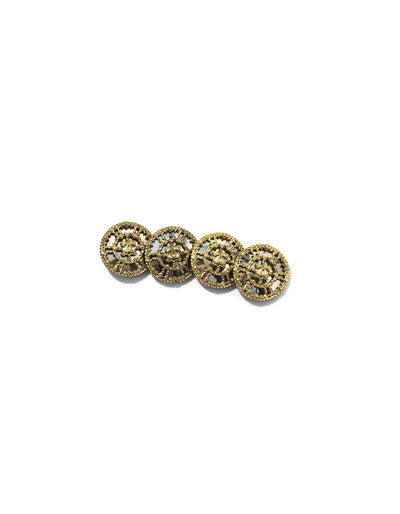 Chanel Goldtone Filigree Mirror Buttons