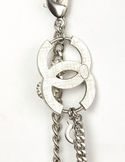 Chanel 2005 Silver Flower & CC Chain Link Belt