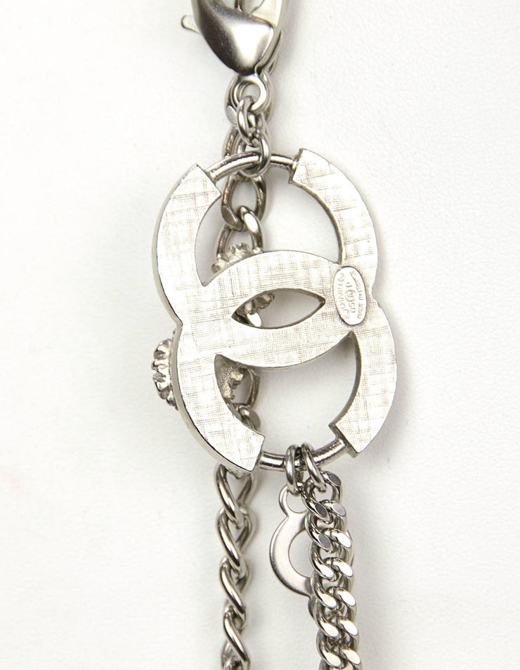 Chanel Silver Flower & CC Chain Link Belt