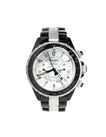 Chanel Black Ceramic/Aluminum 41mm Superleggera J12 Unisex Watch