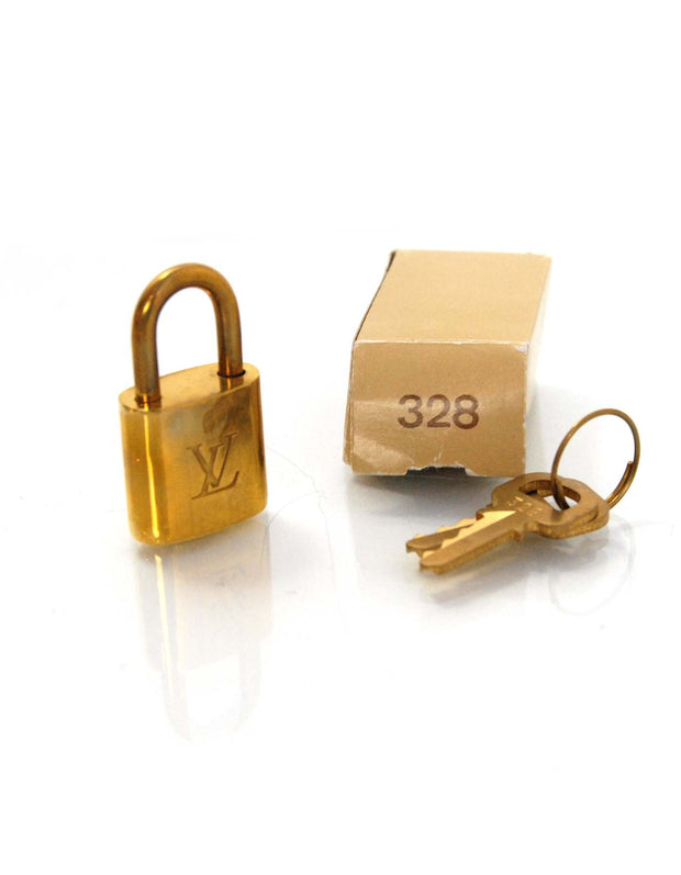 Louis Vuitton Gold Padlock & 2 Keys