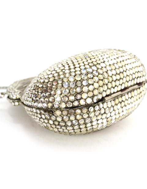 JUDITH LEIBER Vintage Crystal Minaudiere Evening Bag SHW