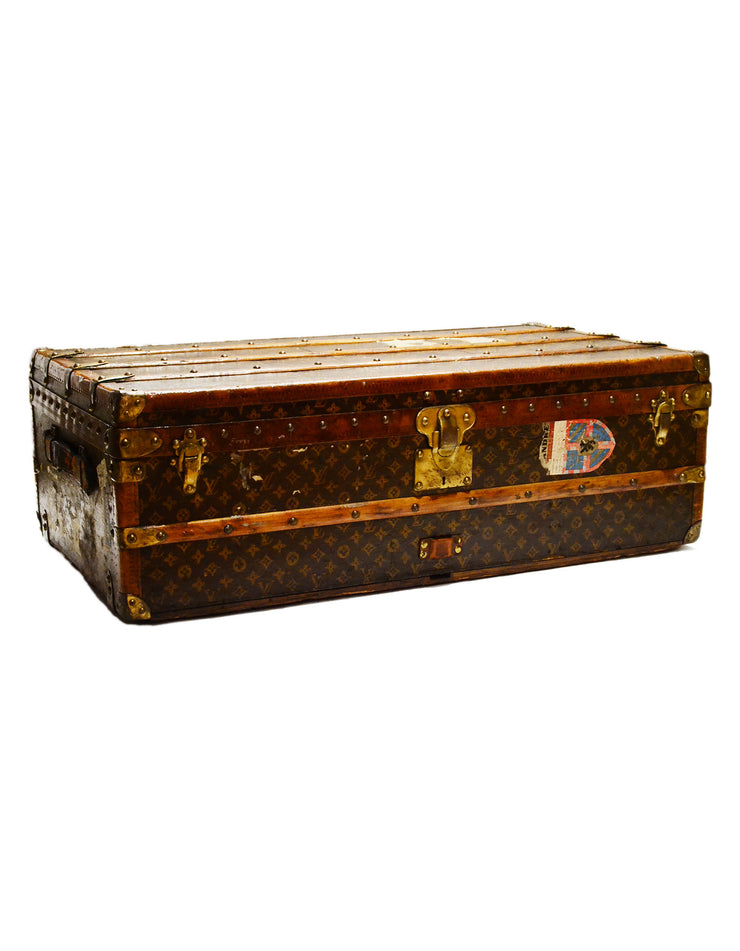 Louis Vuitton Vintage Monogram Rolling Trunk w/Insert