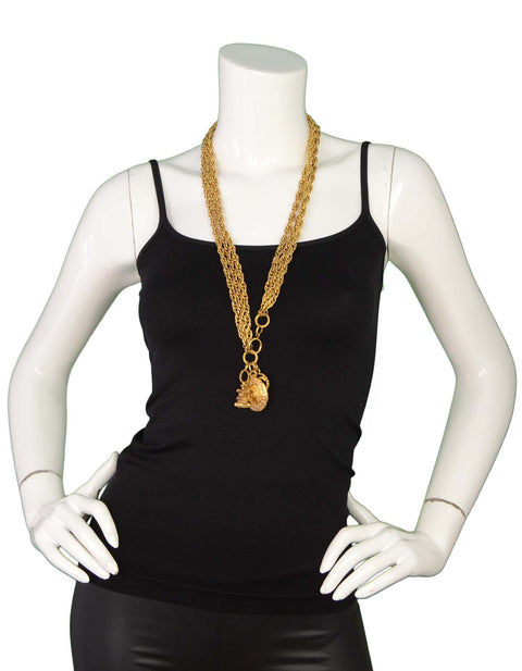 Chanel Gold-Tone Multi-Strand Belt/Necklace