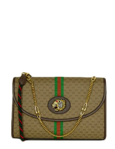Gucci NEW Monogram Web Medium Rajah Shoulder/Crossbody Bag