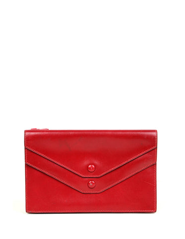 Hermes Red Box Leather Multisnap Wallet - AS IS