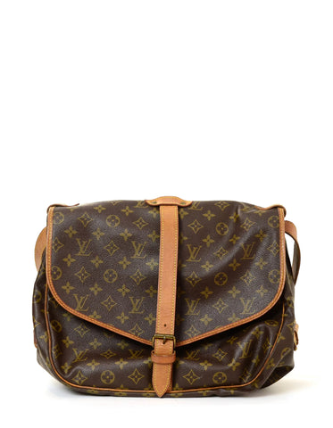 Louis Vuitton Monogram Saumur 35 Double Saddle Messenger Bag