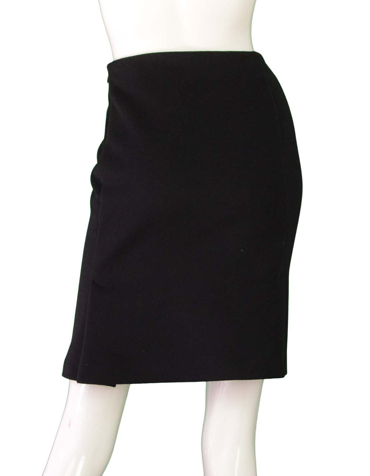 MaxMara Black Wool Skirt sz US8