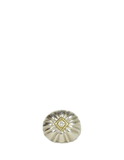 Slane & Slane Sterling & Gold Flower Ring w/ Diamond sz 6.25