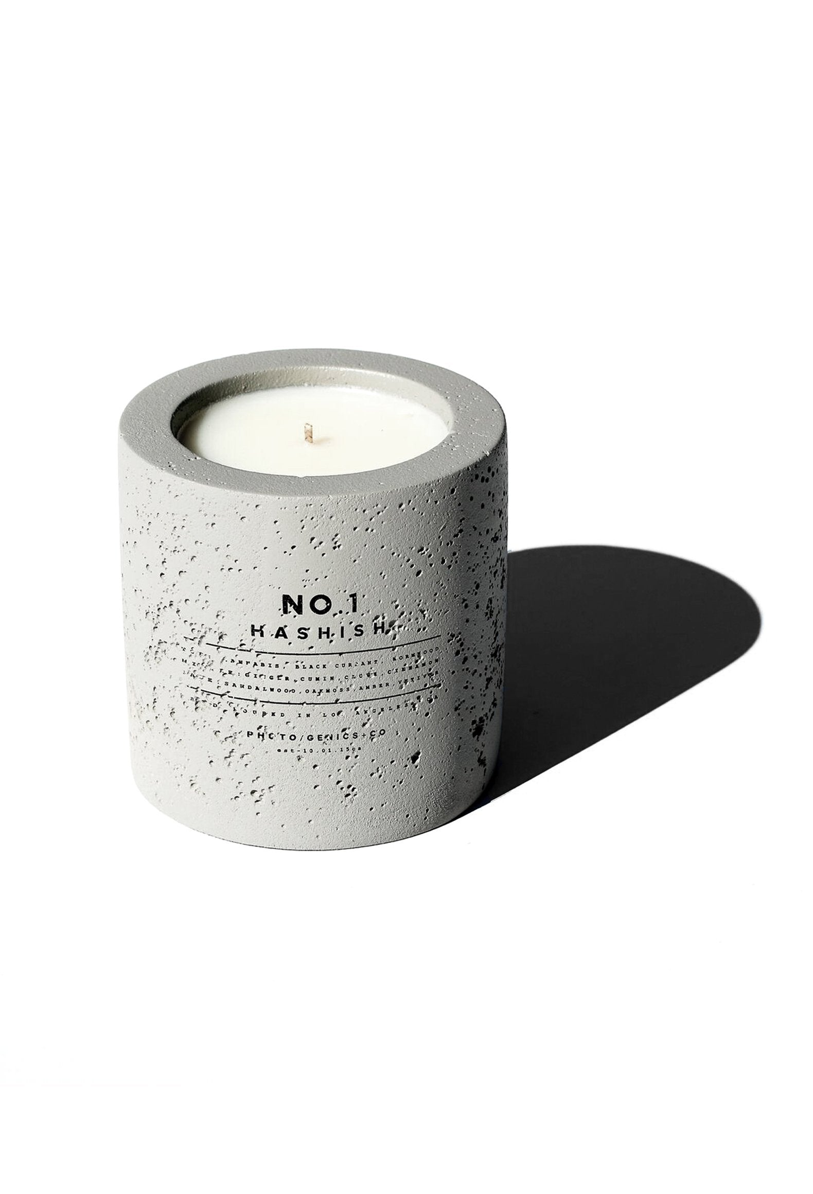 No.1 Hashish Concrete Candle