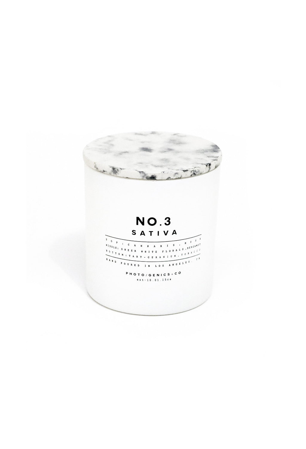 No.3 Sativa Glass Candle