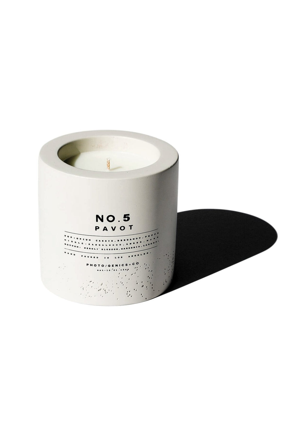 NO.5 PAVOT CONCRETE CANDLE