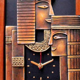 Egyptian Couple wall clock for her/him
