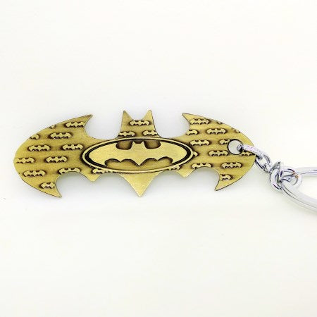Batman Logo Keychain in Gold