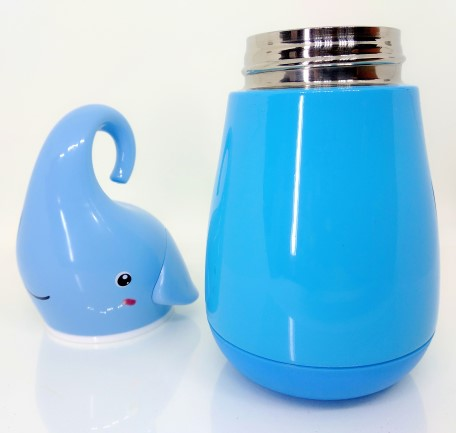 Unique blue elephant shaped water bottle/ Thermos
