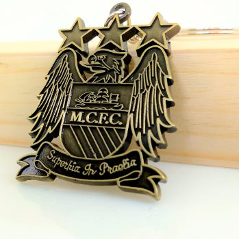 Manchester City FC Metal Keychain