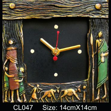 Traditional gift Massai wall clock