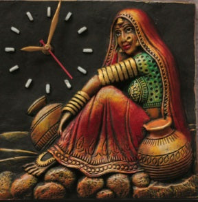 Traditional Rajastani Lady Wall Clock