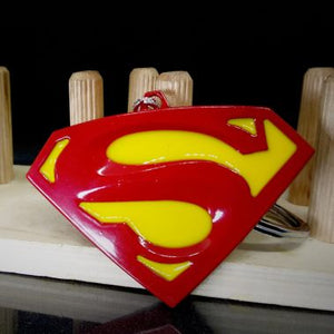 Superhero superman metal keychain