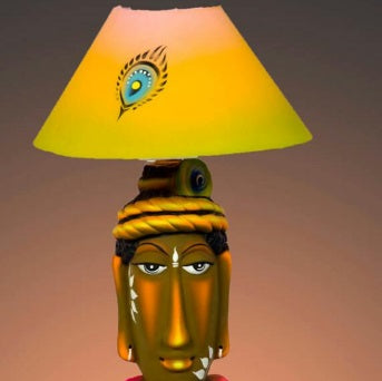 Handpainted Terracotta lamp gift