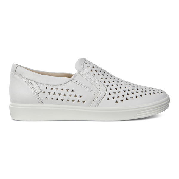 Womens - Ecco Soft 7 Slip On - White