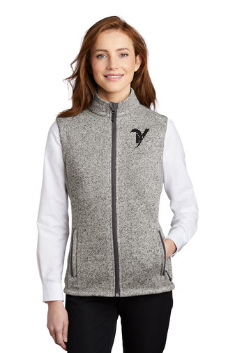 L236 Ladies Sweater Fleece Vest