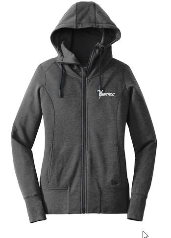 LNEA511 New Era Ladies Fleece Full-Zip Hoodie