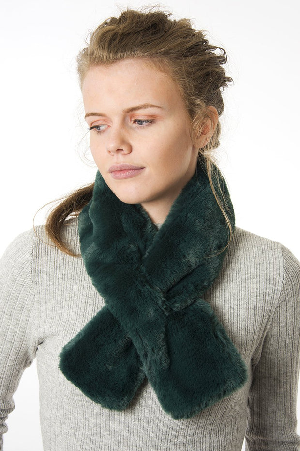 Forest Green Collar - Faux Fur