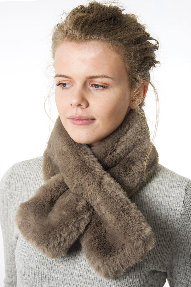 Taupe Collar - Faux Fur