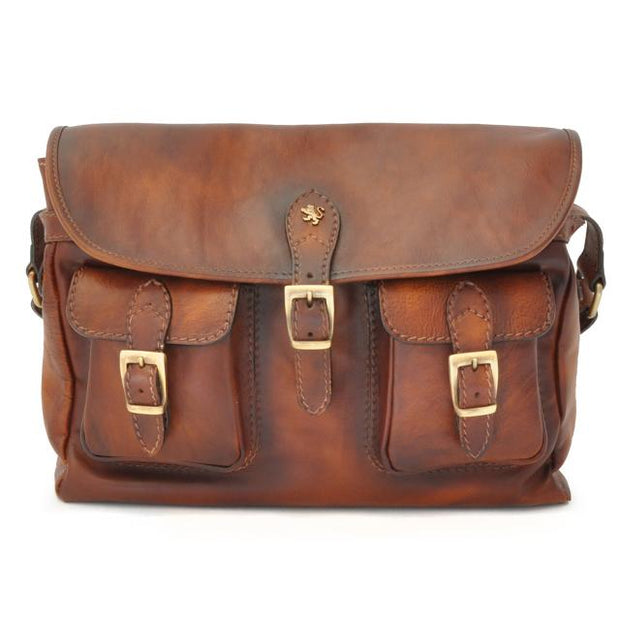 Pratesi brown Maremma leather shoulder bag.