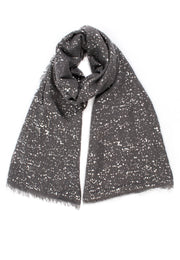 Dark Grey Scarf with Metallic Speckles